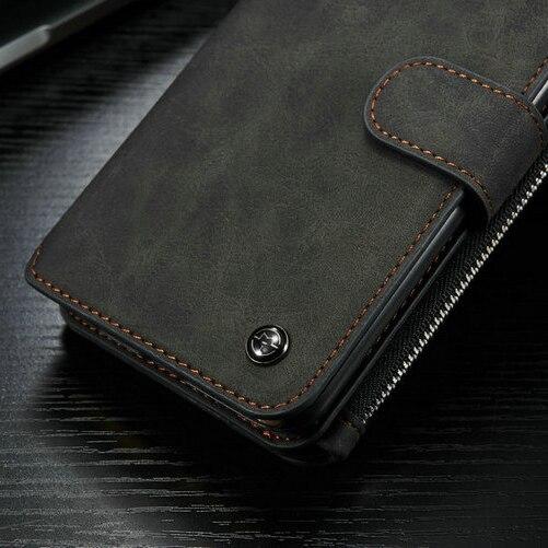 Populära Caseme 2 i 1 kortspalter äkta läder plånbok väska - Reservdelar och tillbehör för mobiltelefoner - Foto 6