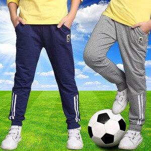 Image 1 - Primavera 2019 Crianças Meninos Crianças de Algodão Meninos Calças Esportivas Sweatpants Casuais Padrão de Estrela Grande Menino Calças Compridas Roupas Adolescentes 14Y