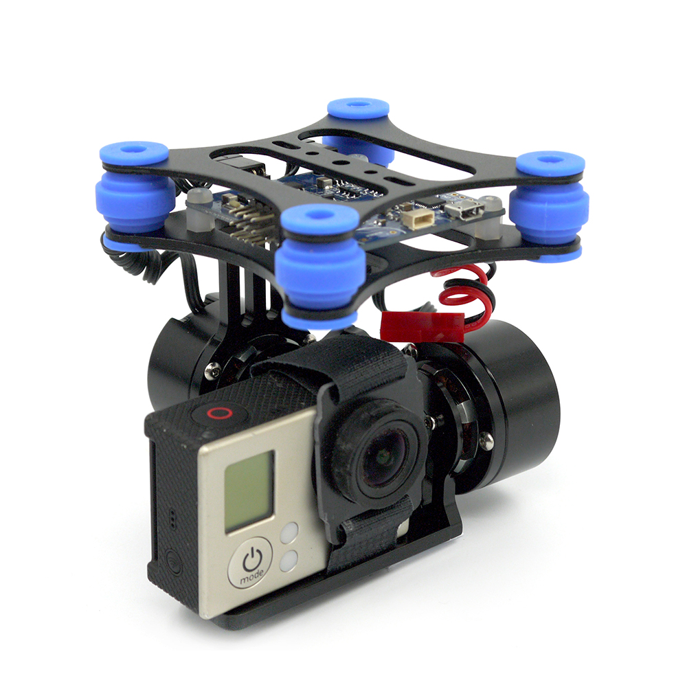 RTF 2 Axis Brushless Gimbal Camera w/ 2208 Motors BGC Controller Board Support SJ4000 Gopro Camera For DJI Phantom QR X350 2015 hot sale quadcopter 3 axis gimbal brushless ptz dys w 4108 motor evvgc controller for nex ildc camera