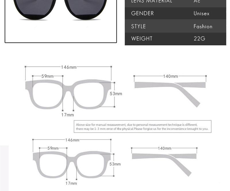 RBROVO Gafas de sol mujer vintage 7