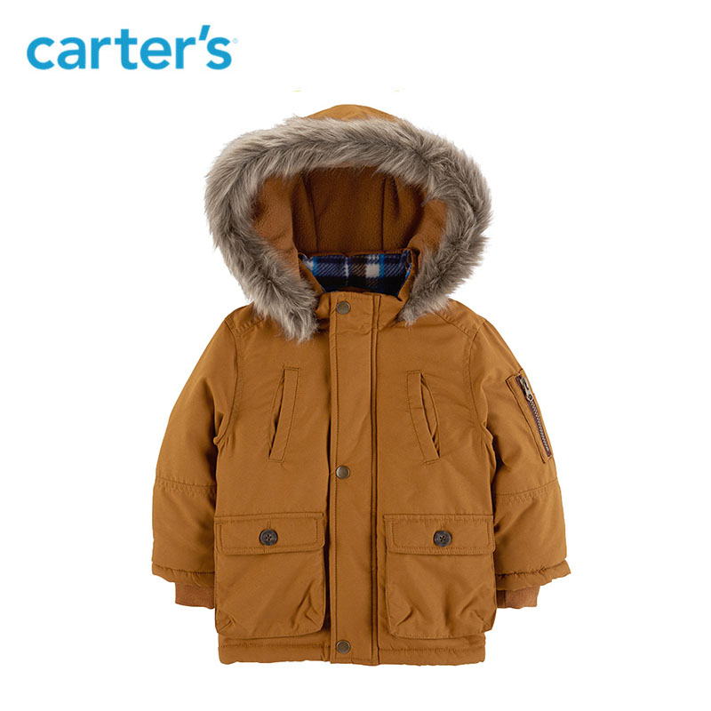 Carters winter jacket parka for boys coats hooded warm jackets children's clothing snow wear kids outerwear CL218B41/CL218B51 костюм carters