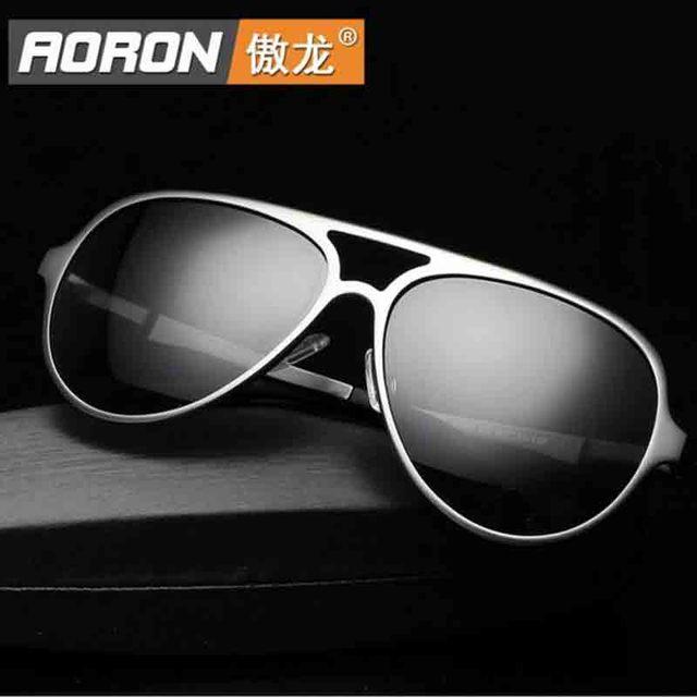 2016 De Alumínio e magnésio Polarizada óculos de sol dos homens óculos de sol de luxo esportes óculos homem marca designer Driving espelho UV400