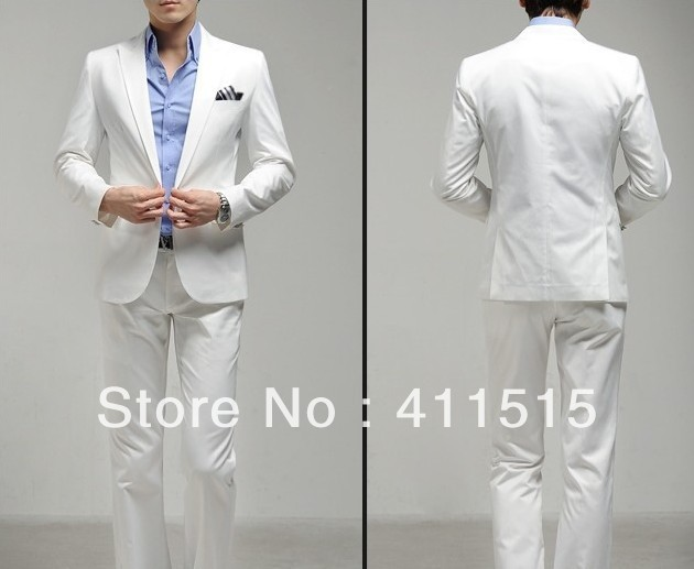 4499cb635f US $115.85 |CUSTOM Tailored suit/free shipping Slim bridegroom Korean  suit/men's business suit /white (coat + pant) on Aliexpress.com | Alibaba  Group