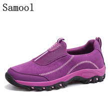 Lovers Casual Shoes In Autumn 2017 Men's Cow Suede Breathable Walking Shoes, Flat-bottomed Vulcanized Shoes Size 35-44 Hot Sale