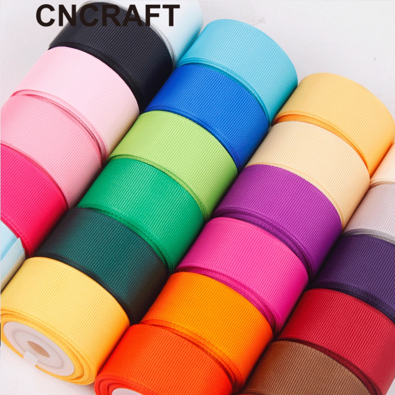 (5 Yardss/lot) Grosgrain Ribbon Wholesale Gift Wrap Decoration Christmas Ribbons (6/10/12/15/20/25/40MM)