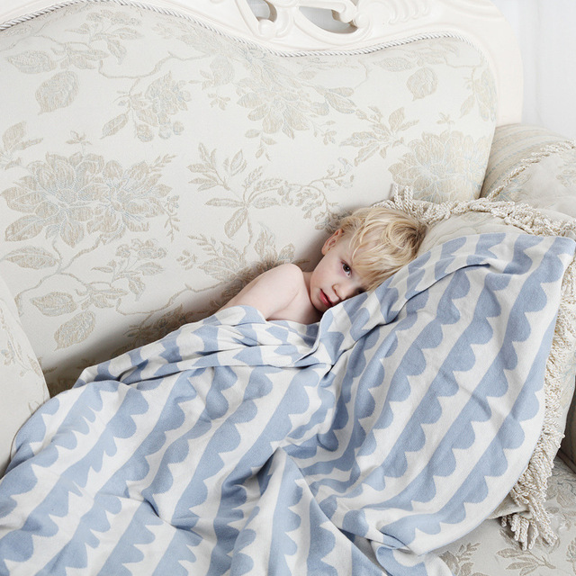 3 Farben Nordic Stil Baby Decke Weichen Stricken Häkeln Kinderwagen