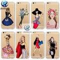 Brand new phone case para iphone 7 6 6 s plus 5 5S SE 6 Plus Capa Moda Vestido Compras Beber Menina Silicone Macio Do Telefone Móvel saco