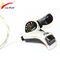 Silver 6 Speed Mountain Bicycle Derailleurs Trigger Shifters Shift Levers Speed Control Ebike Mountain Road Bicycle Accessories