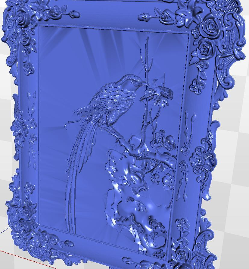 model relief for  cnc in STL  file format 3d Panno_bird_1 crucifix cross 3d model relief figure stl format religion 3d model relief for cnc in stl file format