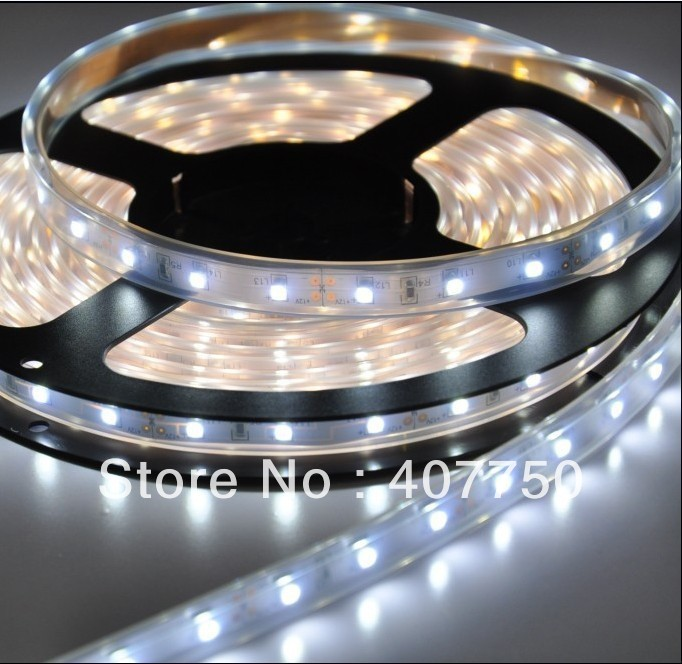 IP68 waterproof DC 12v SMD 3528 60led per metre 4W flexible led light strip for swimming pools and Sauna Houses