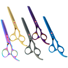 6.5 Purple Dragon Pet Grooming Scissors Dog Hair Thinning Professional Shears JP440C, LZS0581