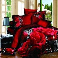 100% ارتفع القطن مارلين مونرو 3d الفراش مجموعات الملكة الحجم ل الفتيات غرفة christomas هدية ورقة السرير لحاف كوف 4 قطع سرير مجموعة