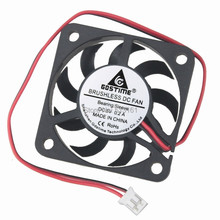 цена на 5Pcs Gdstime Small Mini 2Pin 40mm 40x40x7mm 5V DC Motor Brushless Cooling Fan