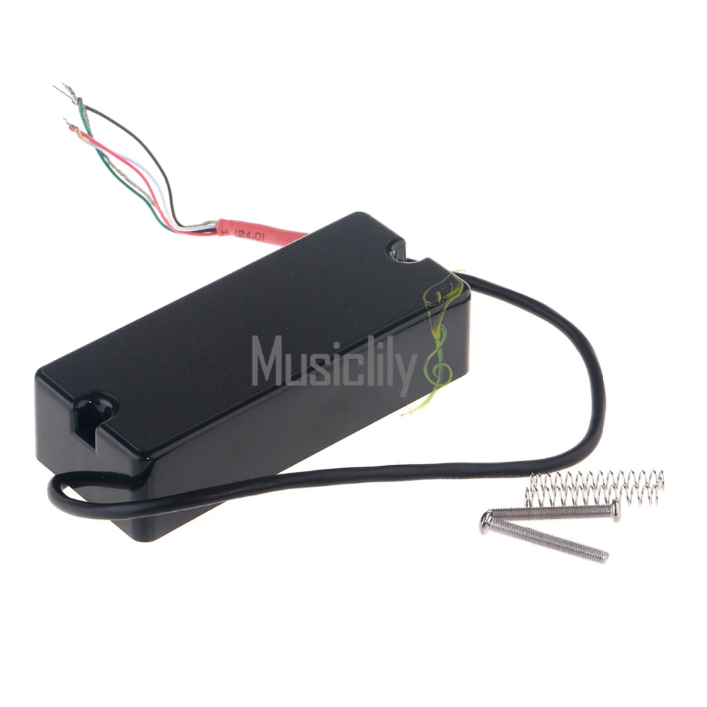 4 String Electric Bass Guitar Soapbar Style Passive Pickup Black