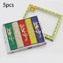 1 zestaw pięć kolorowych smoczych atramentów/siedem kolorowych smoczych atramentów chiński atrament kaligrafii bar blok atramentu