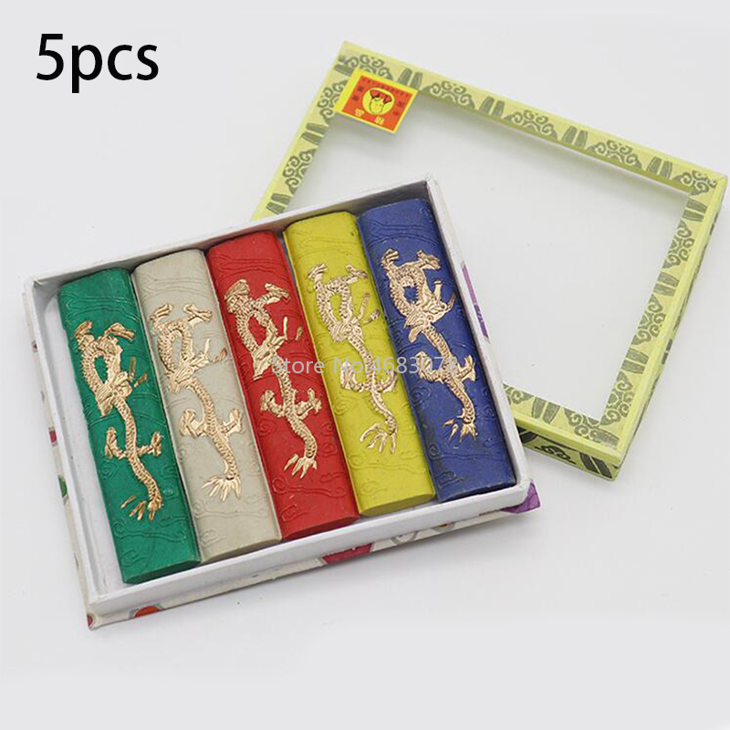 1Set Five Colorful Dragon Ink/Seven Colorful Dragon Ink Chinese Calligraphy Ink Bar Ink Block