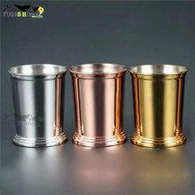 400ml Bamboo Barrel Shape Double Walled Stainless Steel Beer Vodka Mugs Cup Tea Coffee Camping Drinkware Travel Tumbler