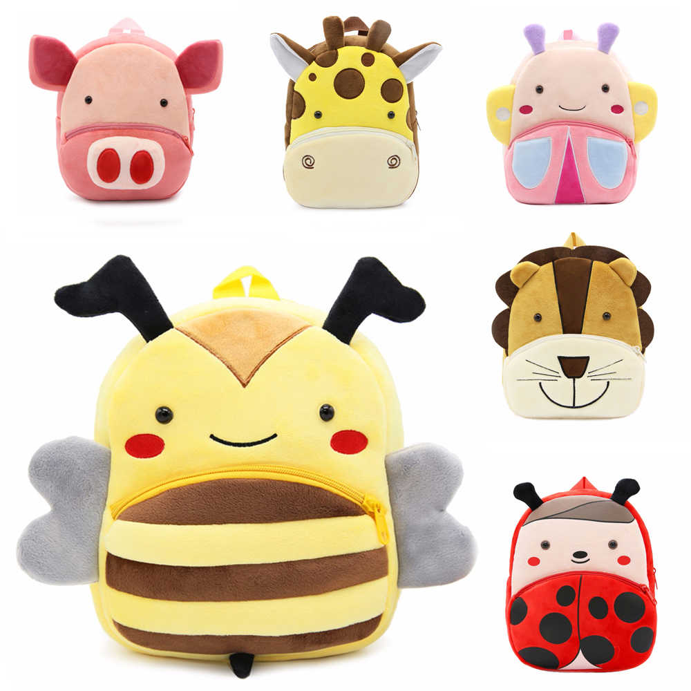 Kids Animal Backpacks Baby Girls Boys Cute Plush Schoolbag Cotton Soft Baby Backpack Student Book bag Children Plush Toys