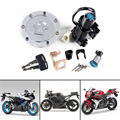 Motorcycle Ignition Switch Fuel Gas Tank Cap Cover Lock Key Set Kit For Honda CBR 1000RR 600RR 1000 RR 600 RR