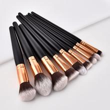 Profesyonel 10 tipi yumuşak makyaj fırçaları Kabuki fırça karıştırma tozu fondoten allık makyaj fırça göz farı kozmetik aracı