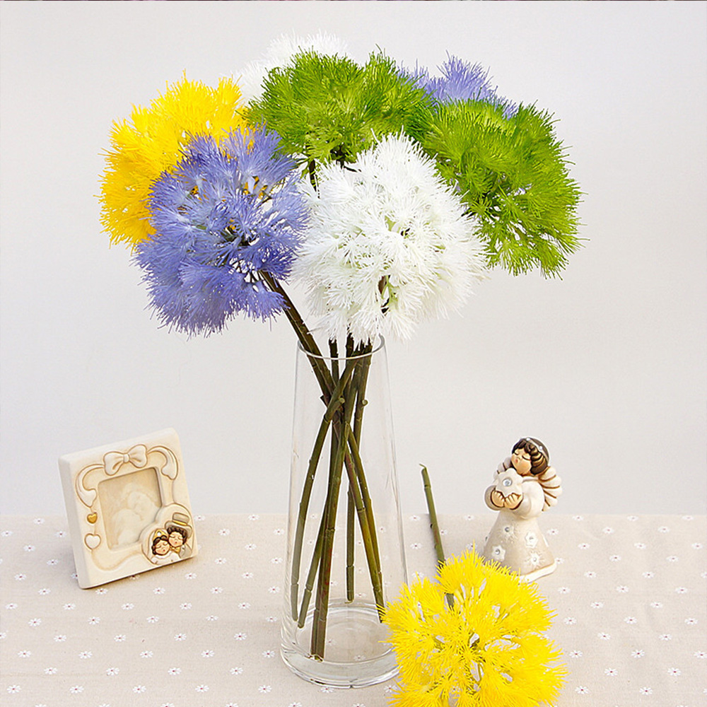 1 Bundle Simulation Flower Wholesale Fake Dandelion Plant Wall