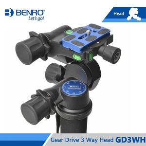 Image 2 - Benro GD3WH Head Gear Drive 3 Way Head Three Dimensional Heads For Camera Tripod Max Loading 6kg Free Shipping