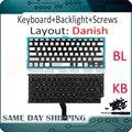 Новая клавиатура A1369 A1466 Датская для Apple Macbook Air 13
