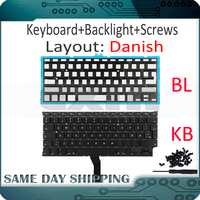 Nova A1369 A1466 Danish Teclado para Apple Macbook Air 13