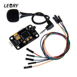 Módulo de reconhecimento voz leory com microfone dupont jumper fio reconhecimento voz placa controle voz para arduino compatível