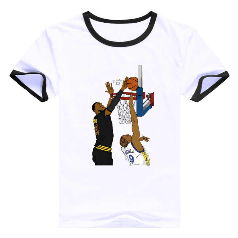 online store 078b3 0a268 LeBron James T-shirt James King T Shirt LosAngele Laker Jersey Basketball  Star Tshirt Block Shot Top O-neck Short Sleeve Tee