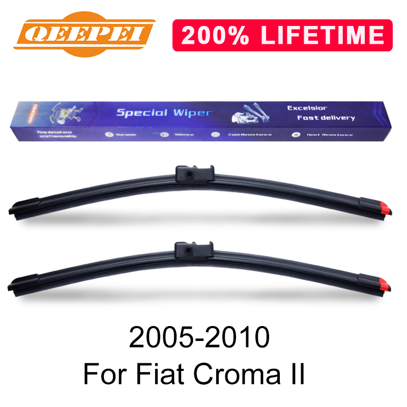 For FIAT CROMA Front Wiper Blade Replacment Rubber Pair Refills