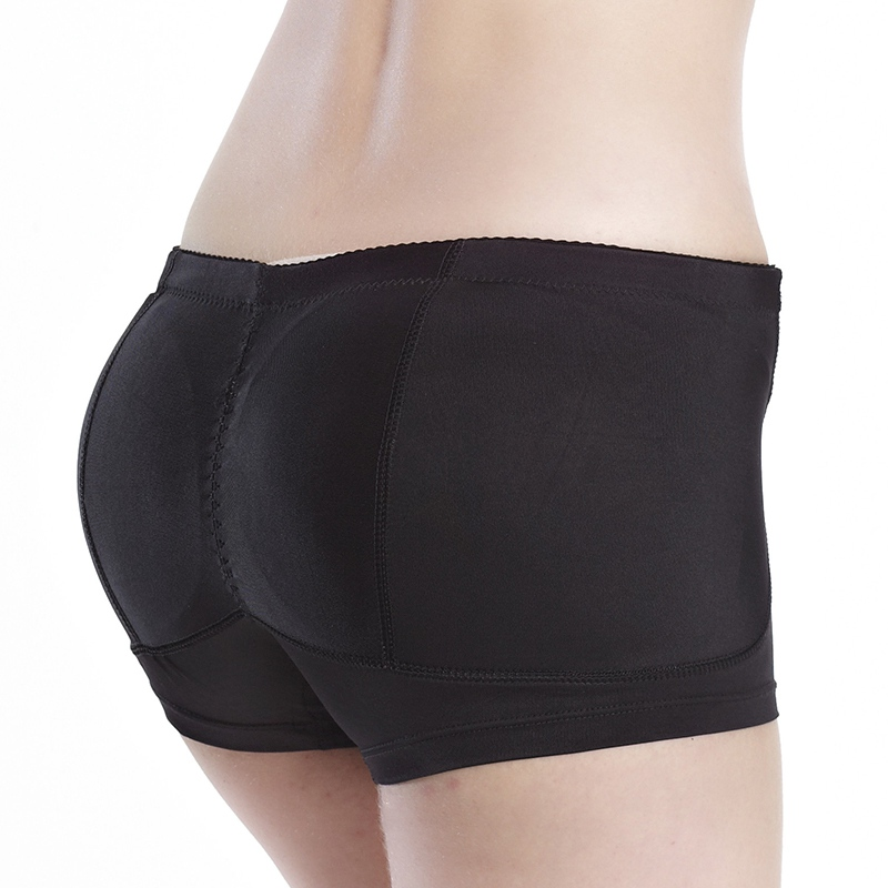 Ladies Bum Hip Up Briefs Padded Panties Buttocks Butt Enhancing Knickers Transgender Shaper Breast Forms Black Size L
