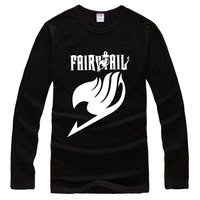2016 HOT SALE Anime Fairy Tail Long Sleeve Logo T Shirt FashionT shirt Cotton Cosplay Casual Spring Autumn T shirt