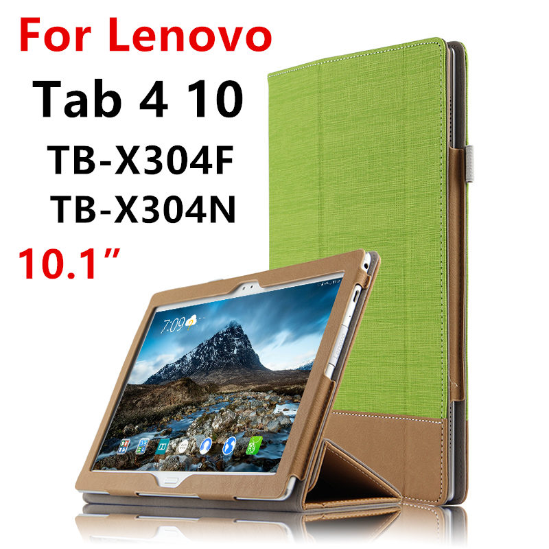 Case For Lenovo Tab 4 10 Protective Cover Tab410 Protector Smart Covers Leather PU TB-X304L TB-X304F N Tablet PC Cases 10.1 inch huwei case sleeve for lenovo tab 4 10 plus smart cover protective leather tab4 10 tablet pc cases tab410plus pu protector covers