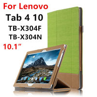 Case For Lenovo Tab 4 10 Protective Cover Tab410 Protector Smart Covers Leather PU TB X304F