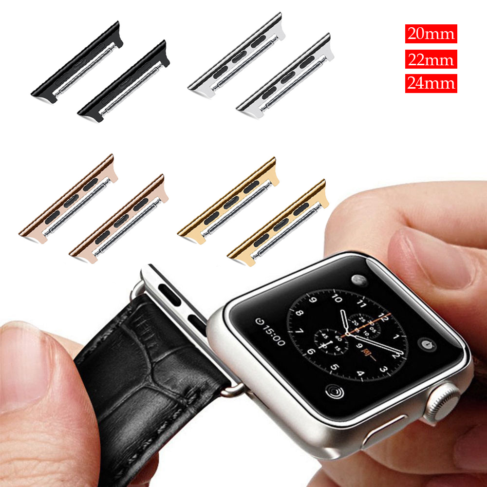 EIMO Metal Connector Adpater For Apple Watch band 44mm 40mm 42mm 38mm iwatch series 4 3 2 1 Stainless Steel adaptor Accessories in Watchbands from Watches