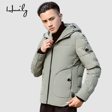 HMILY Winter Jacket Men Casual Cotton Parkas Clothes Warm Short Hoodies Brand Clothing