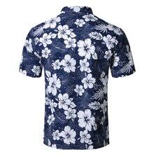 Mens Summer Beach Hawaiian Shirt 2018 Brand Short Sleeve Plus Size Floral Shirts Men Casual Holiday Vacation Clothing Camisas