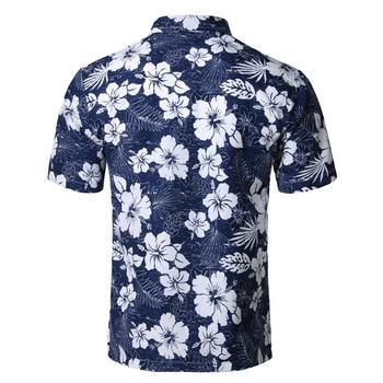 Mens Summer Beach Hawaiian Shirt 2018 Br...