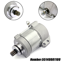 Areyourshop Motorcycle Starter Motor 55140001100 55140001000 For KTM 200 250 300 XC W EXC EXC E XC 2008 2012 2009 12V 410W