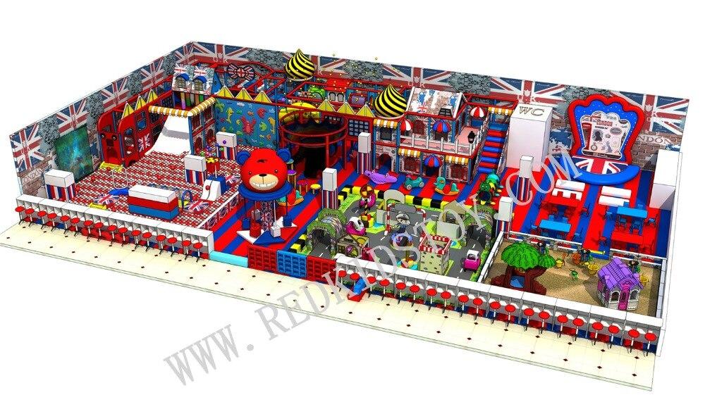 EU Standard British Style Multi functional Large Playground Indoor For Children