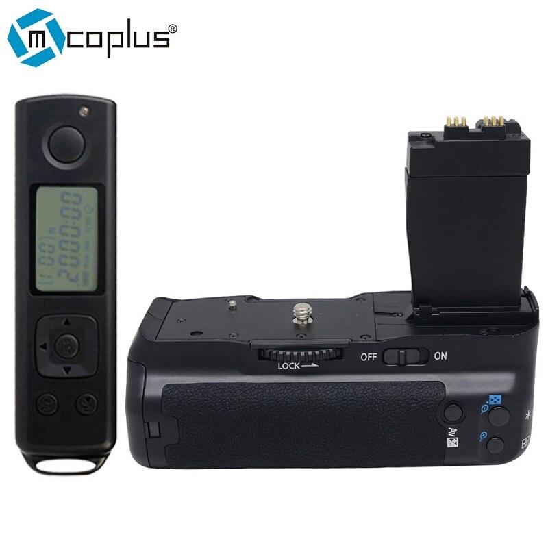 Mcoplus BG-550DR Vertical Batterie Grip pour Canon EOS 550D/600D/650D/700D Rebel T2i/T3i/T4i/T5i Avec 2.4G Sans Fil Télécommande