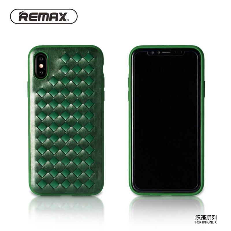 Remax의 복고풍 직조 디자인 전화 케이스 애플 아이폰 X PU 가죽 빈티지 5.8
