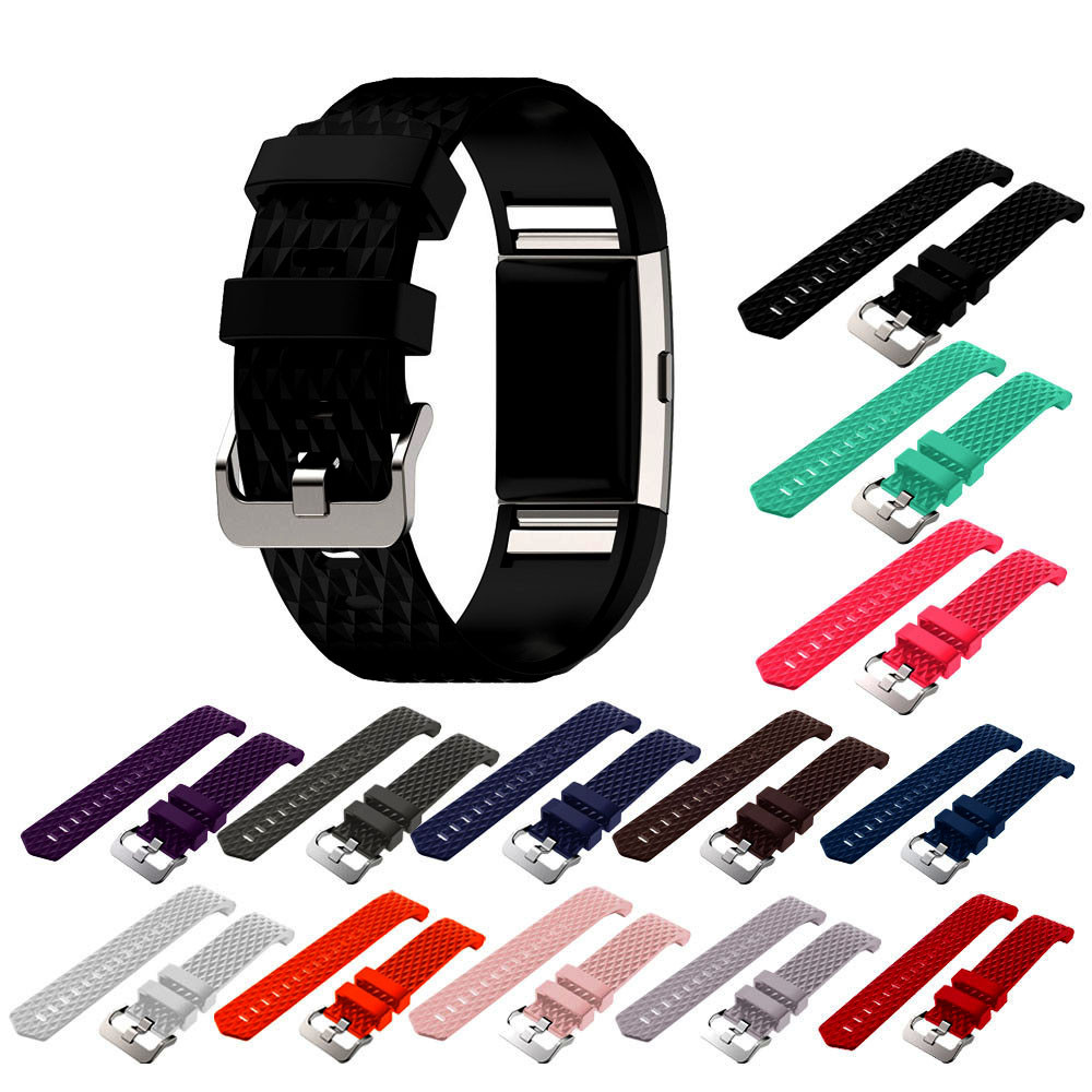 New Fashion Strap Band For Fitbit Charge 2 Sports Silicone Replacement Watchband Correa Venda Dropshipping Dignity JU12 jansin 22mm watchband for garmin fenix 5 easy fit silicone replacement band sports silicone wristband for forerunner 935 gps