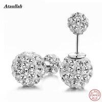 Ataullah Bling 925 Sterling Zilveren Oostenrijkse Kristal Grote Dangle Lange Oorbellen Voor Vrouwen Pendientes Largos 925 Sieraden EWS105