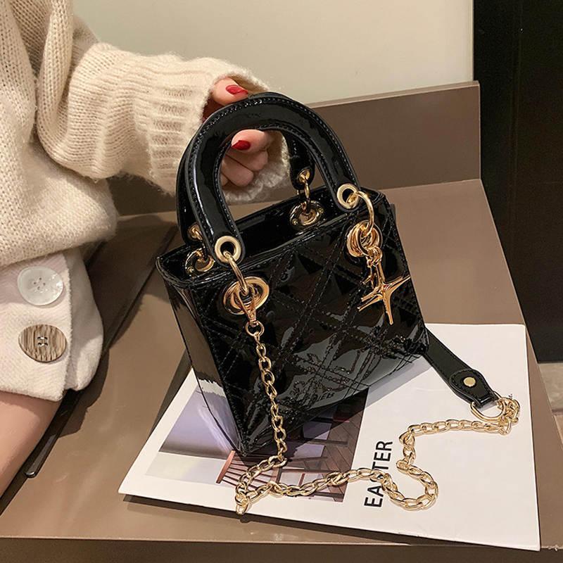 Luxury Plaid Pattern Metal Ornaments Girls Handbag 2019 Fashion New Female Totes High Quality PU Leather Women's Shoulder Bags