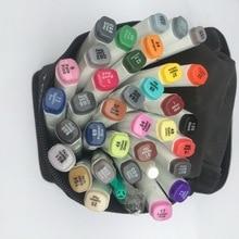 Дешевые TOUCHNEW/шесть поколений маркер костюм алкоголь жирной Студенты Аниме ручной росписью дизайн 36 48 цветов/маркеры манга