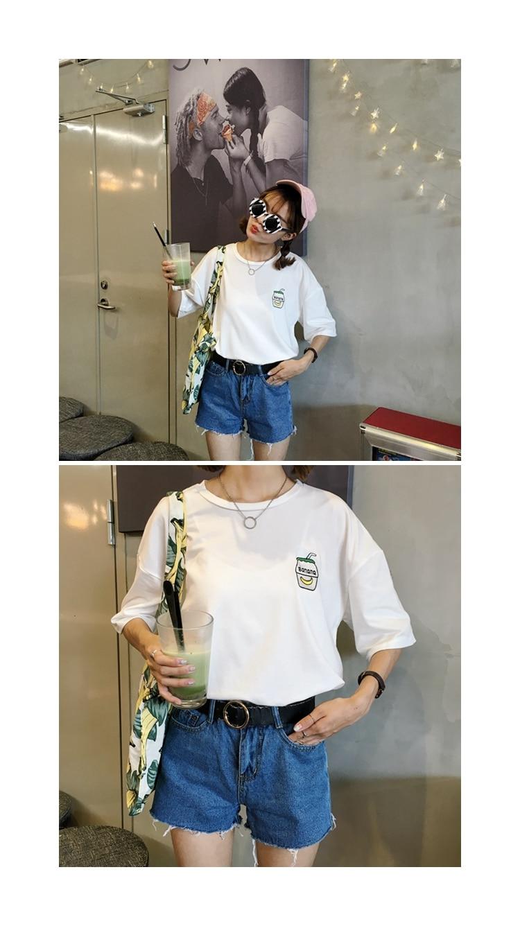 HTB1I7ozKFXXXXc XVXXq6xXFXXXJ - Summer New Cute Banana Milk Embroidered T-shirts PTC 192