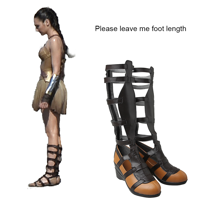 dfd817084210 Wonder Woman Diana Cosplay Boots Halloween Cosplay Shoes Superhero Women  Boots Cosplay Costume Accessories Adult Props Tailored-in Shoes from  Novelty ...