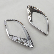 Free shipping Rear Tail Fog Light Lamp Covers Trim ABS Chrome For Mazda CX-5 CX5 2012 2013 2014 2015 car accessories 2pcs